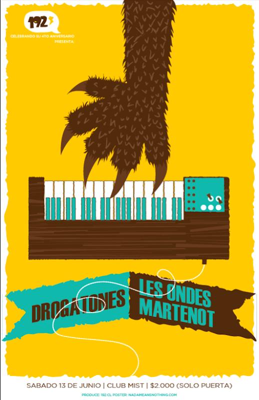 Fiesta 192.cl Les Ondes Martenot, Drogatones en club mist