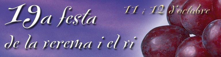 XIX Festa de la Verema i del Vi de Verdú !!