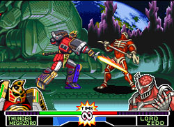 de lord zedd em power rangers fighting edition os rangers são