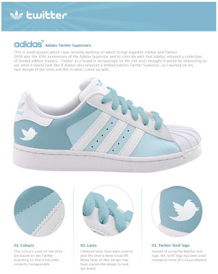 adidas twitter shoes Facebook ou Twitter? No seus pés.