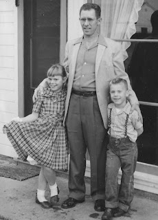 My father with me and charlie in 1958