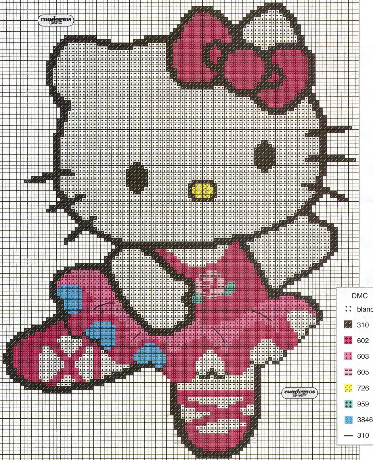 Punto de cruz esquemas de hello kitty - Videos de punto de cruz ...