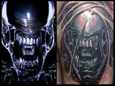 While I commend the person for getting an Alien tattoo, I'm perplexed as to