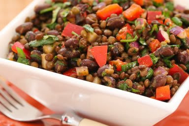 Black Bean and Lentil Salad