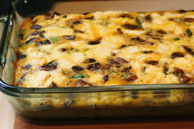 Asparagus and Mushroom Breakfast Casserole
