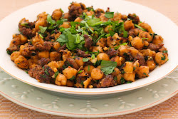 ... Spicy Sauteed Chickpeas (Garbanzo Beans) Recipe with Ground Beef and