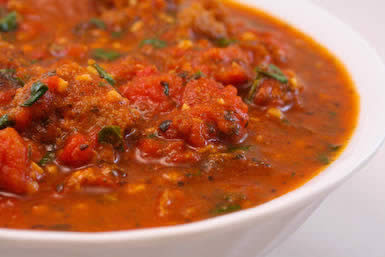 Sausage and Basil Marinara Sauce