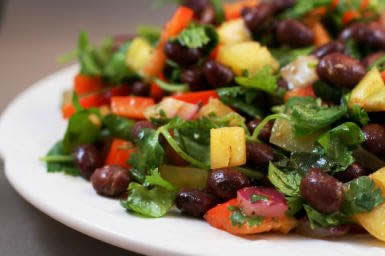 Black Bean and Pepper Salad
