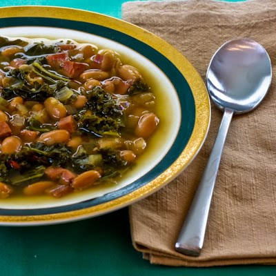 Cannellini Bean and Kale Soup with Ham and Sherry Vinegar