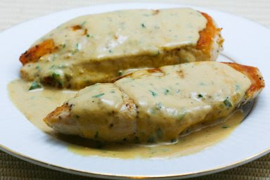 Chicken with tarragon mustard sauce
