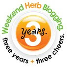Weekend Herb Blogging Three Year Anniversary