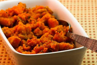 Crockpot Sweet Potatoes from Kalyn's Kitchen