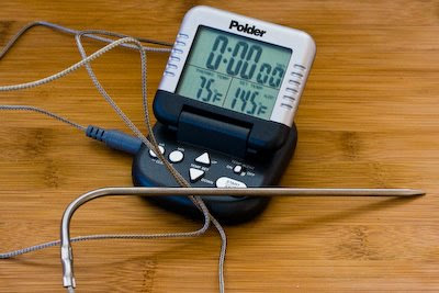 Polder Digital Meat Thermometer with Probe and Timer