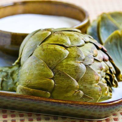 Artichokes cooked