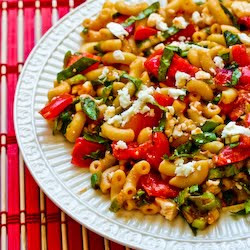 Recipe for Macaroni Salad with Fresh Tomatoes, Fresh Basil, and Feta ...