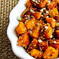 , Recipe adapted from Butternut Squash with Pecans and Blue Cheese ...