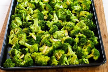 ... broccoli is too crowded the pieces will steam instead of roasting