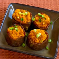 ®: Twice-Baked Sweet Potato Cups with Sour Cream, Chipotle, and Lime ...
