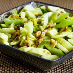 Green Apple, Celery, and Walnut Salad with Lemon-Mustard Vinaigrette found on KalynsKitchen.com