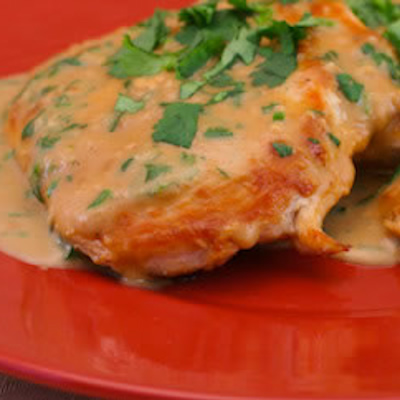 Chicken Breasts With Cilantro And Red Thai Curry Peanut ...