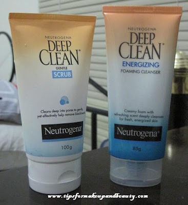 Neutrogena Deep Clean Gentle Scrub and Energizing Foaming Cleanser