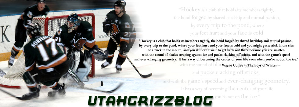 GrizzBlog, a Utah Grizzlies Blog | News, Photos, ECHL hockey