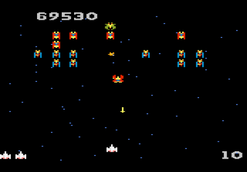 how to get 2 ships in galaga