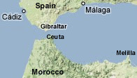 Mappa dello Stretto di Gibilterra