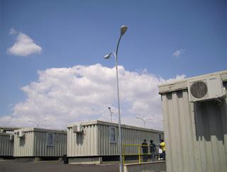 I container del centro di Caltanissetta