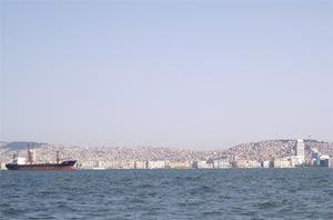 Vista della città di Izmir
