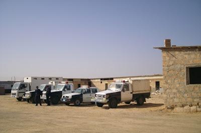 Mezzi di pattugliamento al centro di Zuwarah