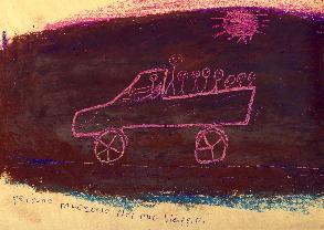 Disegno di uno degli studenti della scuola di italiano Asinitas