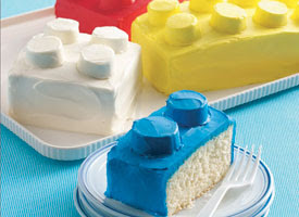 Lego brick cake