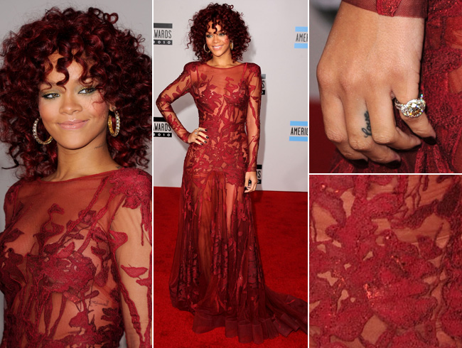 rihanna red hair curly hair. rihanna red hair curly.