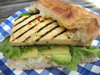 Grilled Tofu Focaccia Sandwich recipe