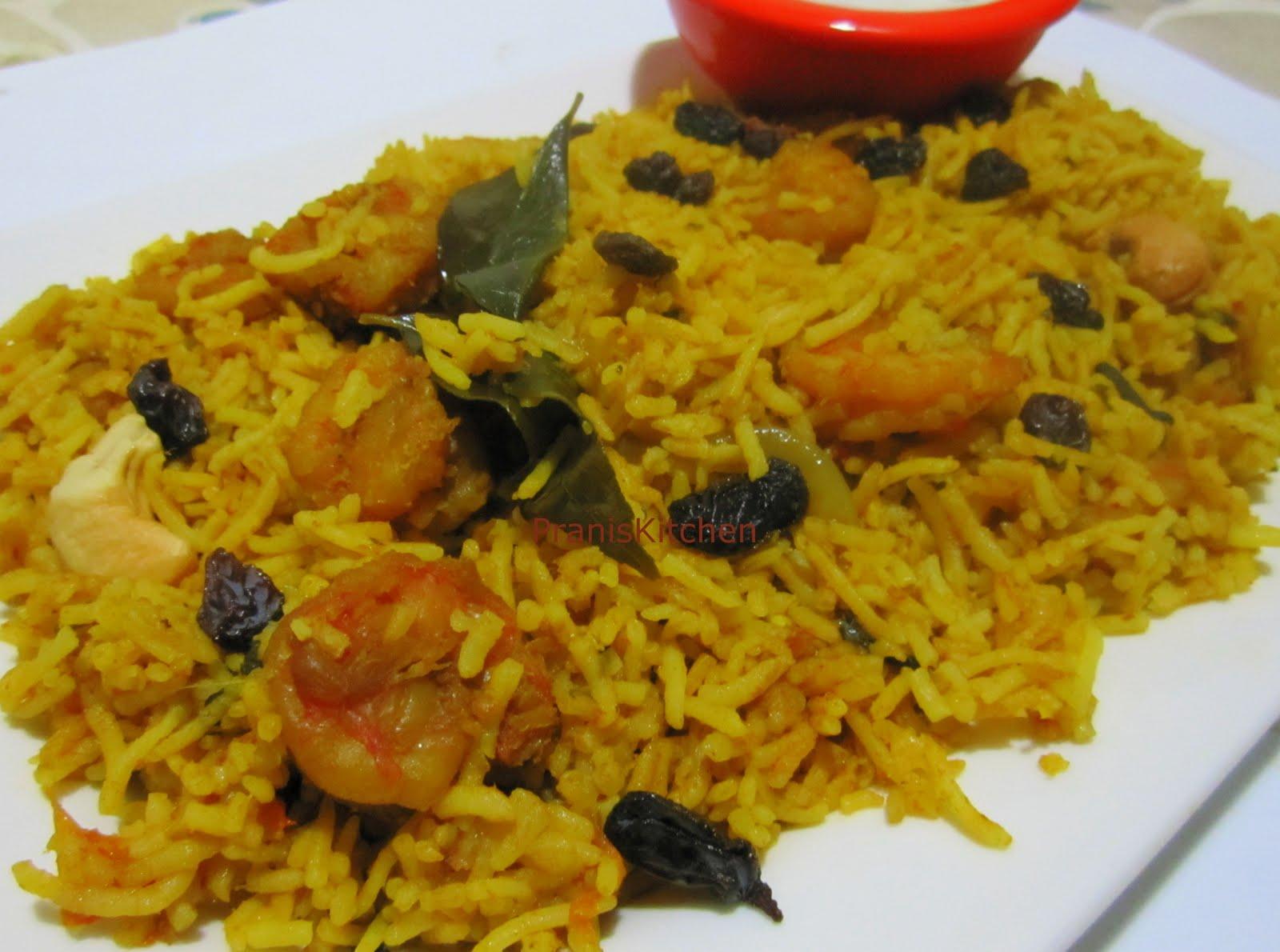 ... for food lovers -Try it you 'll love it: Shrimp Biryani/Prawn Biryani