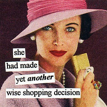 shopping anne taintor