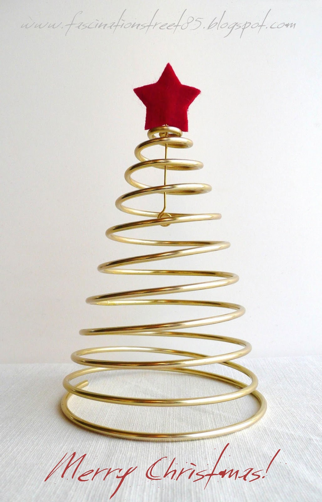 abbastanza fascinationstreet: Albero di Natale in filo metallico - Tutorial - BK07