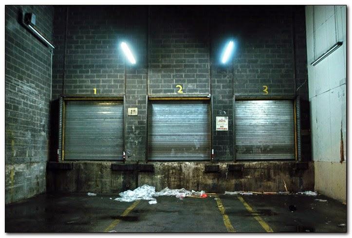 dark loading dock
