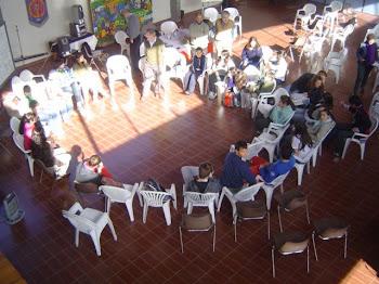 taller a partir del seminario 7 de  junio, pensando juntos, como viven la juventud en Valdense...