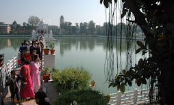 Worshipping at Rani Pokhari