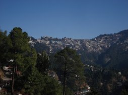 The main town center of Shimla