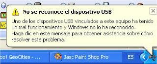 Solución al problema de que USB no funciona