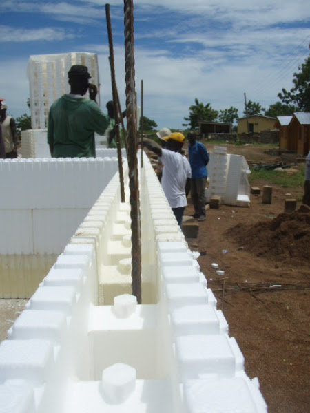 Building styrofoam walls