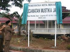 Kecamatan Mustika Jaya Kota Bekasi diresmikan 25 Januari 2004
