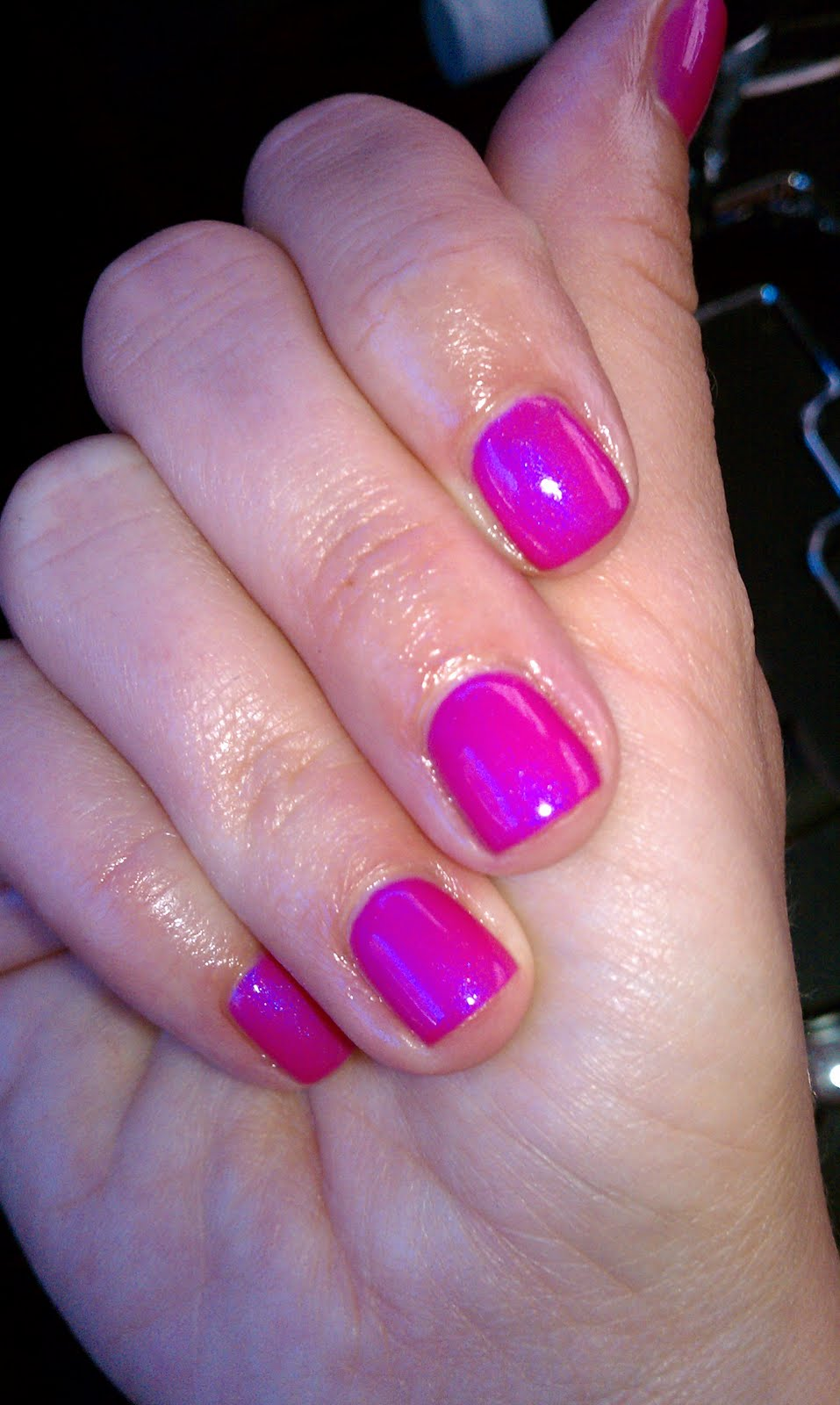 Lipgloss Break: CND Shellac nail polish