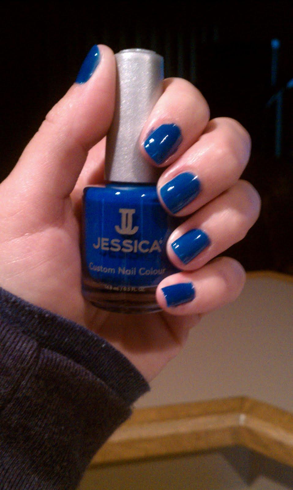 Lipgloss Break: Jessica Nail Polish in Blue Blast