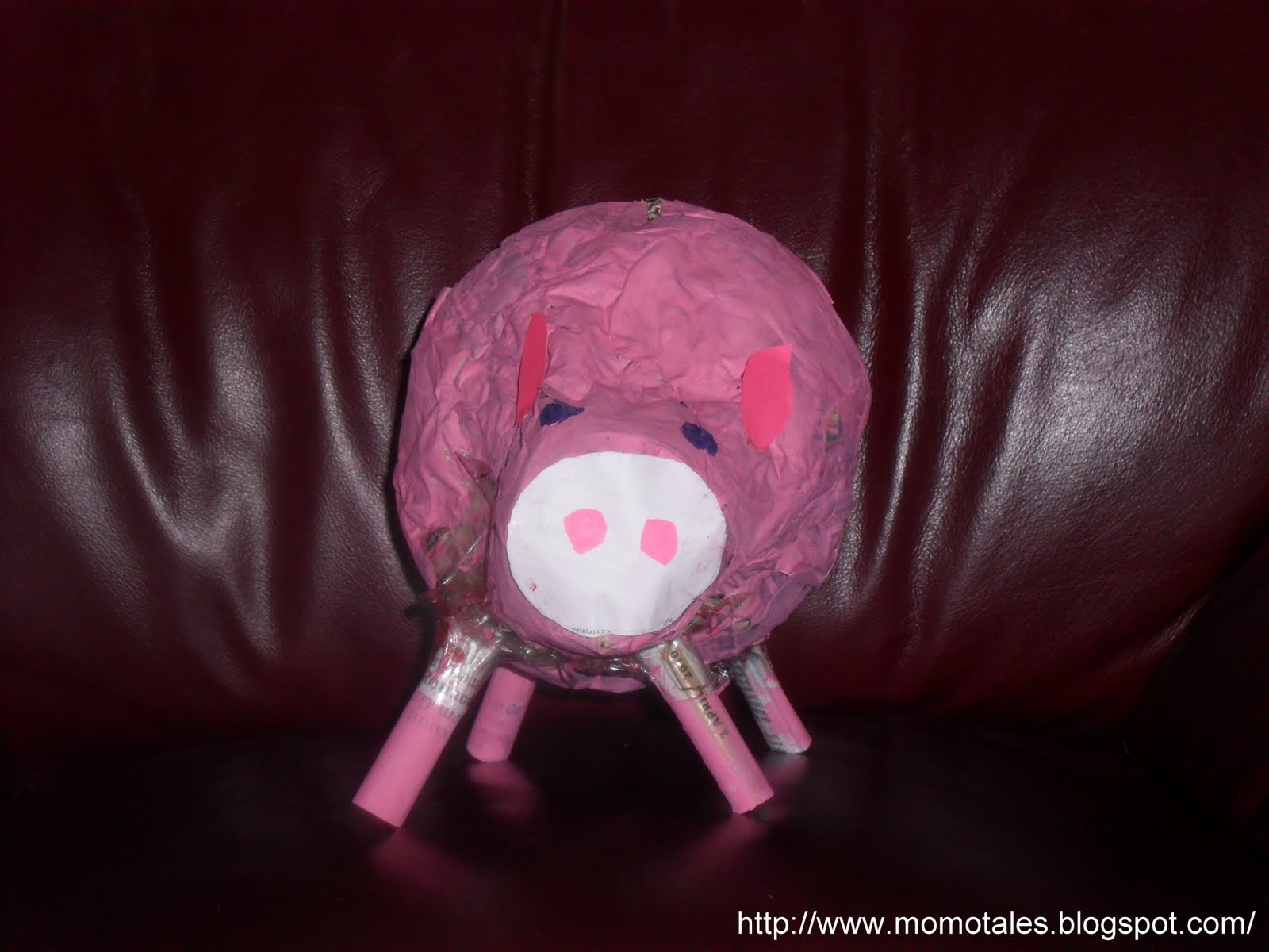 how to make a piggy bank out of paper mache