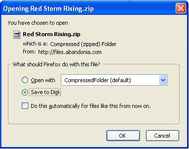 Saving the Red Storm Rising game