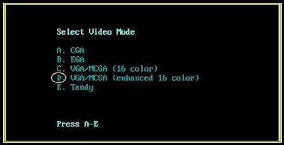 Video Mode setup
